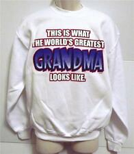 THIS IS WHAT WORLDS GREATEST GRANDMA LOOKS LIKE White Sweatshirt Sm To 4XL NWOTS