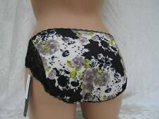 KNICKERS SIZE 8 BLACK & WHITE FLORAL FANTASIE FELICITY LADIES BRIEFS BNWT