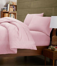 800TC 100% Egyptian Cotton Ultra Soft Pink Solid 4PC Sheet Set All Size & Deep