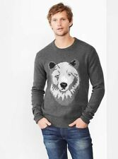 NEW SOLD OUT MENS LARGE TALL LT GAP LAMBSWOOL BEAR PULLOVER SWEATER JUMPER