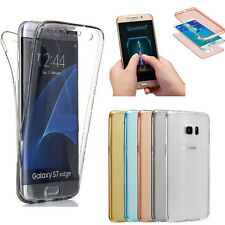 Front+Back Soft TPU 360° Screen Protector Clear Case Cover For Samsung & iPhone