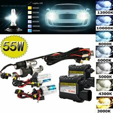 55W HID Xenon Headlight Conversion KIT Bulbs Slim Ballast H1 H3 H4 H7 9005 9006