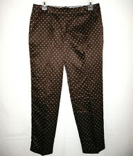J.Crew New With Tag Cafe Capri in Silky Dots Pants C:Brown/W Size:8 Re:$158+Tax