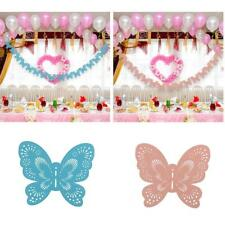 Party Banner Bunting Paper Butterfly Garland for Baby Shower Party Decor
