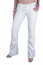 7 for all mankind Women's Jeans White W212-D17 Beads Size W28/L34 #2