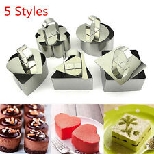 5 Style Stainless Steel Mousse Cake Ring Mold Layer Slicer Cook Cutter DIY Bake