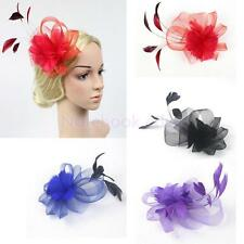 Wedding Bridal Girl Ladies Day Prom Feather Fascinator Hair Clip Headpiece Decor