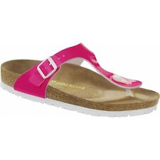 Birkenstock GIZEH Ladies Buckle Toe Post Lightweight Summer Sandals Neon Pink