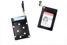 NEW Polka Dot Business Card Holder Hanging Card Holder Synthetic Leather