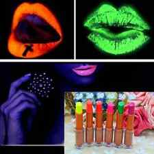 Face Body Bright Fluorescent Lipstick Paints UV Glow NEON Night Party Club Cool