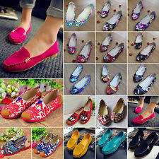 New Women's Ballerina Ballet Dolly Pumps Shoes Ladies Flower Loafers Flat Shoes