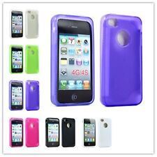 TPU Gel Silicon Rubber Skin Case Cover For Apple iPhone 4 4S 4G Screen Protector