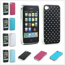 Crystal Star Diamond Chrome Case Cover For Apple iPhone 4 4S Screen Protector