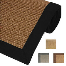 Sisal Rugs 100% Natural Fiber Seagrass Area Rug Casual Border Accent Mat Carpet