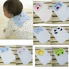 2pcs Cute Cotton Baby Sweat Absorbent Towel Back Perspiration Wipes Cloth Gauze