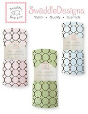 SwaddleDesigns BROWN MOD CIRCLES Marquisette Swaddle Blanket softer than muslin