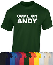 WIMBLEDON TENNIS T SHIRT - ANDY MURRAY T SHIRT - COME ON ANDY - TENNIS T SHIRT