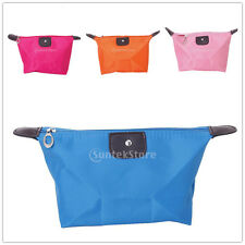 Waterproof Simple Cosmetic Makeup Travel Hand Bag Pouch Zipper Pencil Pen Case