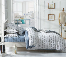 Gray And White Bed Pillowcase Quilt Duvet Cover Set Single Queen King Size