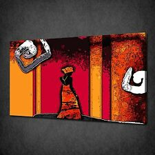 ABSTRACT AFRICAN ART MODERN DESIGN CANVAS PRINT MANY SIZES FREE UK P&P ED881