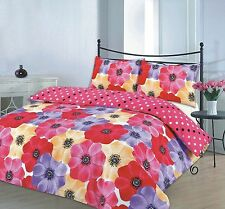 New Sophia Red Lilac Duvet Quilt Cover Bedding Set Single Double King Super King