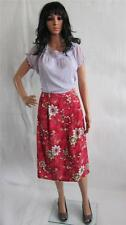 Simply Be Skirt Plus Size 22 UK L 27 in Floral Red Rose Print New