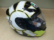 NEW AGV K3 MOTORCYCLE HELMET VALENTINO ROSSI 46 GOTHIC BLACK YELLOW MENS ADULT
