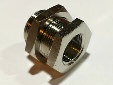 Nickel Plated Brass BSP Bulkhead Fitting