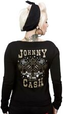 SOURPUSS JOHNNY CASH GUNS CARDIGAN Legend Don't Take Your Guns to Town pistols