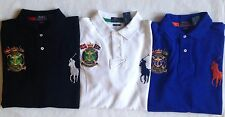 $99 NWT Mens Polo Ralph Lauren Big Pony Nautical Crest Custom Fit Rugby Shirt