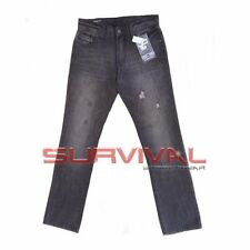 Mens Quicksilver Trashd Jeans New Designer Straight Leg Grey Washed Size 30
