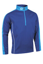 SUNDERLAND MENS CHAMONIX LONG SLEEVE ZIP NECK MID LAYER GOLF TOP ELECTRIC BLUE