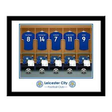 Personalised LEICESTER CITY FC Dressing Room Print in Folder or Frame Licensed