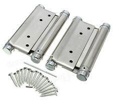 """4"""" or 5"""" Double Action Spring Loaded Hinges - Kitchen Saloon Café Door – 2 pcs"""