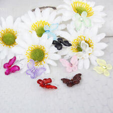 50pcs Wedding Card Wired Mesh Stocking Glitter Butterfly Craft Sewing DIY New