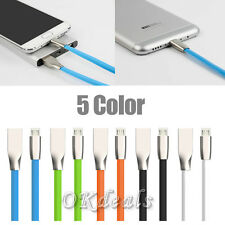 New 1M 3D Zinc Alloy Head Fast Charging Usb Data Cable For Android Cell Phones