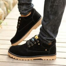 Mens Casual Lace Up Flat Leather Suede Ankle Boots Loafer Shoes Sneakers Casual