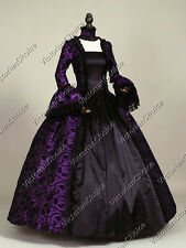 Gothic Renaissance Victorian Brocade Dress Prom Gown Steampunk Punk Costume 119