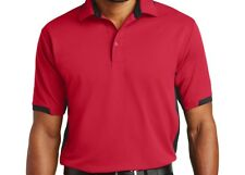 Mens Port Authority Dry Zone Colorblock Ottoman Sport Polo Shirts S to 6XL New
