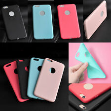 "Rubber Soft Silicone Gel Bumper TPU Back Case Cover For iPhone 6 4.7"" Plus 5.5"""