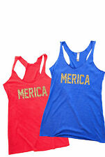 Women's Tank Top - MERICA. 4th of July Tank. 4th of July Shirt. Fourth of July