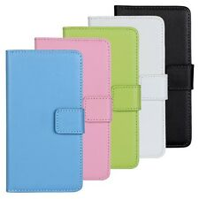 Genuine Leather Wallet Stand Case Cover F Samsung Galaxy S5 S 5 V Mini G800 G906
