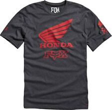 NEW FOX RACING HEATHER BLACK MENS HONDA PREMIUM SS TEE SHORT SLEEVE S/S T SHIRT