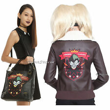 NEW DC Comics Bombshells Batman Harley Quinn Jokers Wild Bomber Jacket + Purse