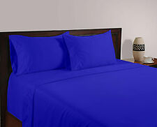 Luxury Bedding Collection 100% Egyptian Cotton 1000 TC Egyptian Blue  Solid ~ UK