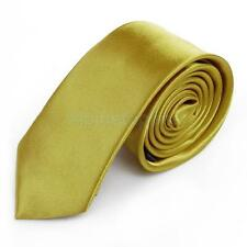 Fashion Solid Color Unisex Casual Necktie Skinny Slim Polyester Narrow Neck Tie