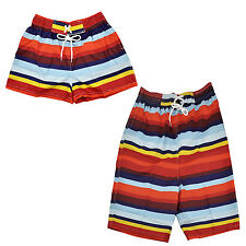 Lovers Mens&Womens Rainbow Stripe Zebra Beach Surf Board Swim Sexy Shorts FK