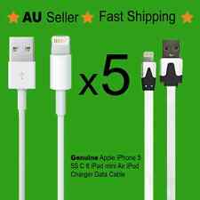 5X Data Sync Cable for Genuine Apple iPhone 5 5C 5S 6 Lightning Flat Noodle Cord