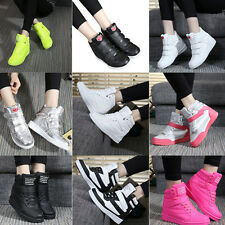 Women's High Top Ankle Boots Wedge hidden heel  casual shoes Fashion Sneakers