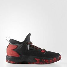 NEW! adidas D LILLARD BOUNCE Basketball Shoes Black Scarlet Red B42387 a1